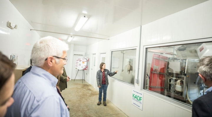 Robotic Milking Facility inside