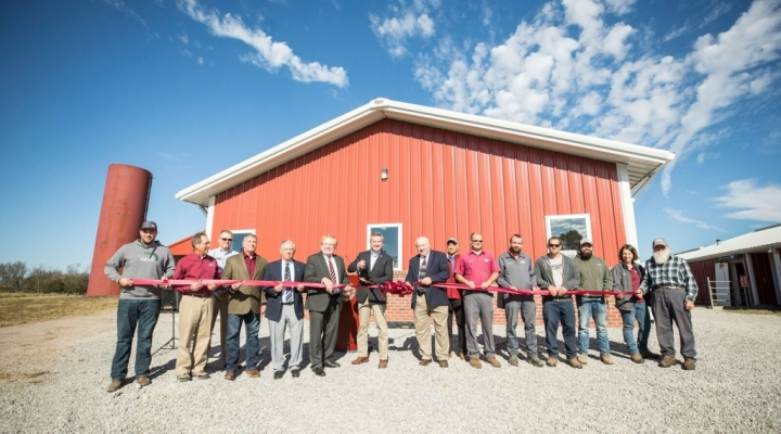 Ribbon Cutting Ceremony for Robotic Milking Facility